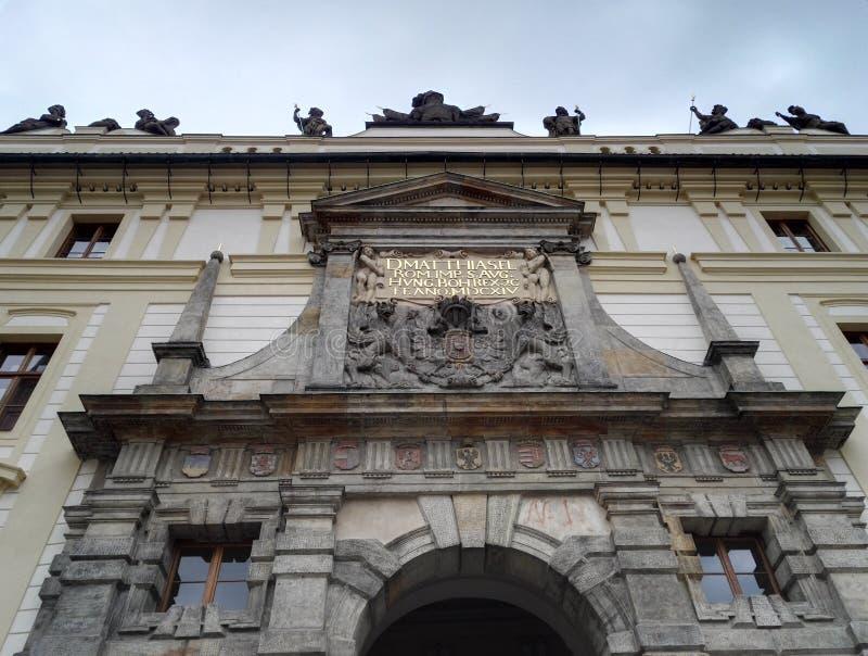 Detail of Prague castle, the Matthias gate royalty free stock photography
