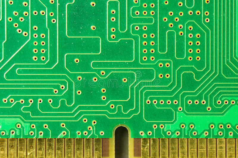 Detail Of A Printed Circuit Board Stock Photos