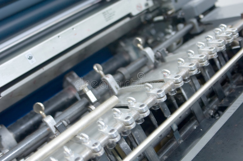 Detail of a printing press 1 stock photo