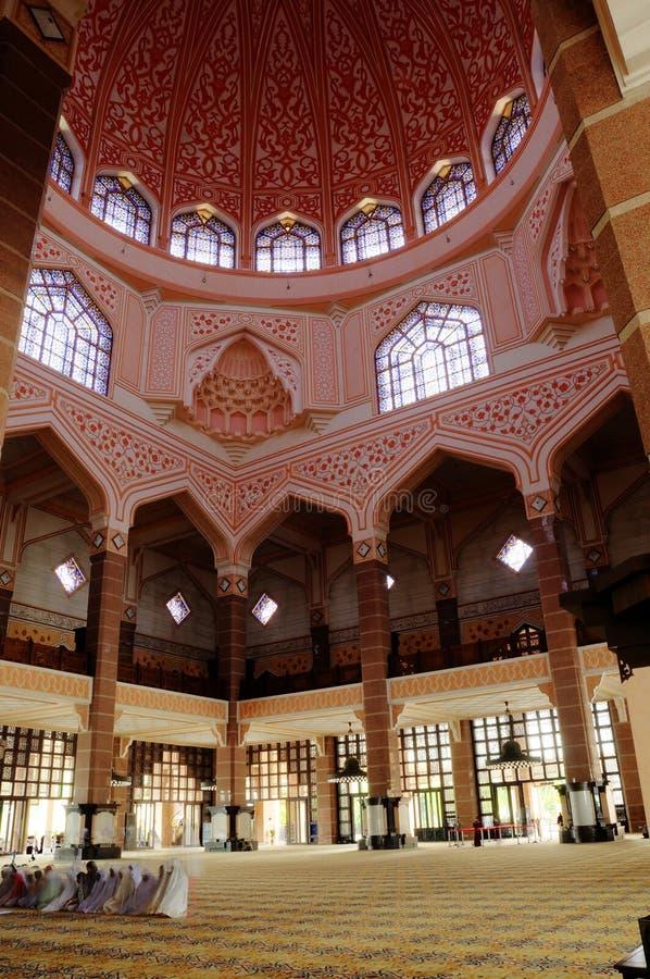Detail of Putra Mosque. PUTRAJAYA, MALAYSIA – DECEMBER, 2013: Putra Mosque located at Putrajaya Malaysia. It was the first mosque built in Putrajaya stock photos