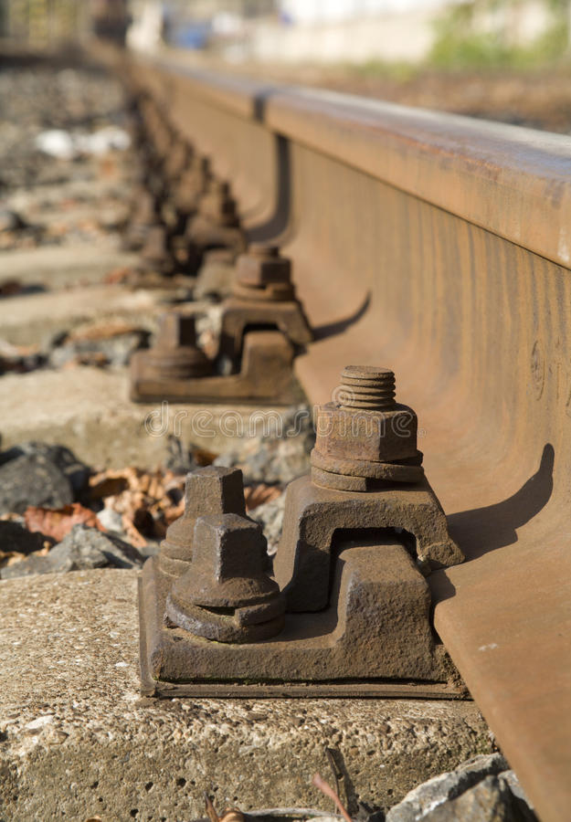 Detail of the rails stock photo