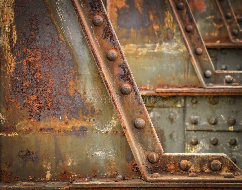 Detail of the railway bridge royalty free stock photo