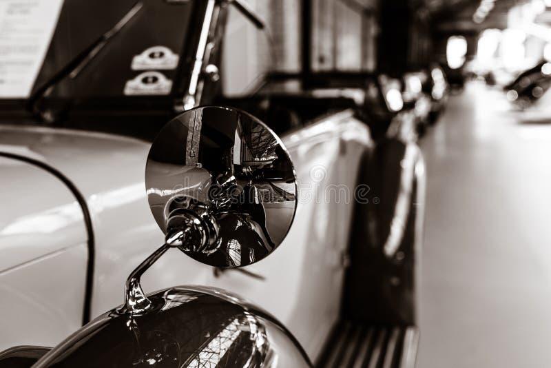 Detail of rare car Lagonda LG45 Open Tourer, 1937. stock photography