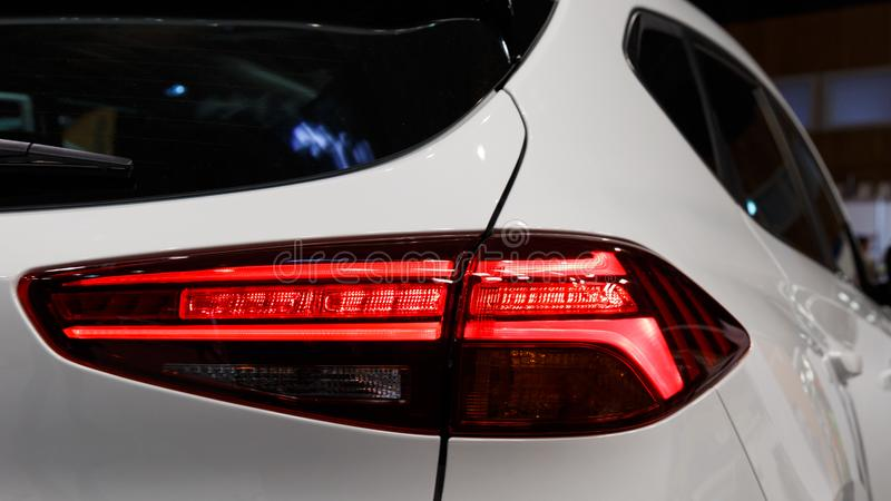 Detail on the rear light of a car royalty free stock photos