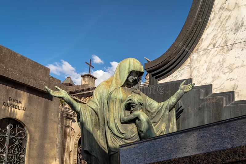 Detail of Recoleta Cemetery - Buenos Aires, Argentina stock photography