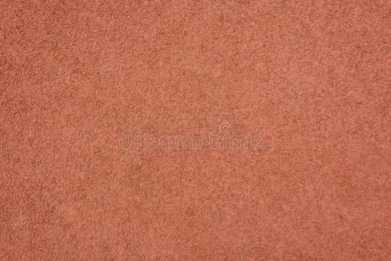 Detail of red rubber ground floor. royalty free stock photos