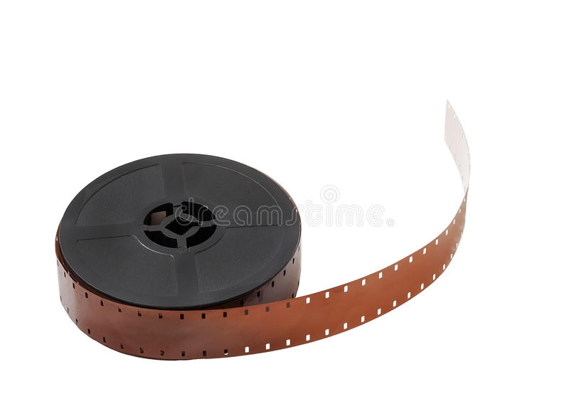 Download Detail Of A Reel Of 16mm Film Isolated On White Background Stock Photo - Image: 48802908