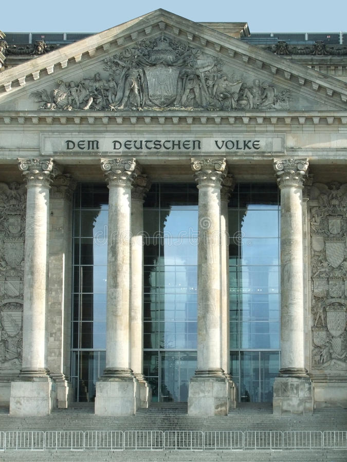 Detail Of The Reichstag Stock Images