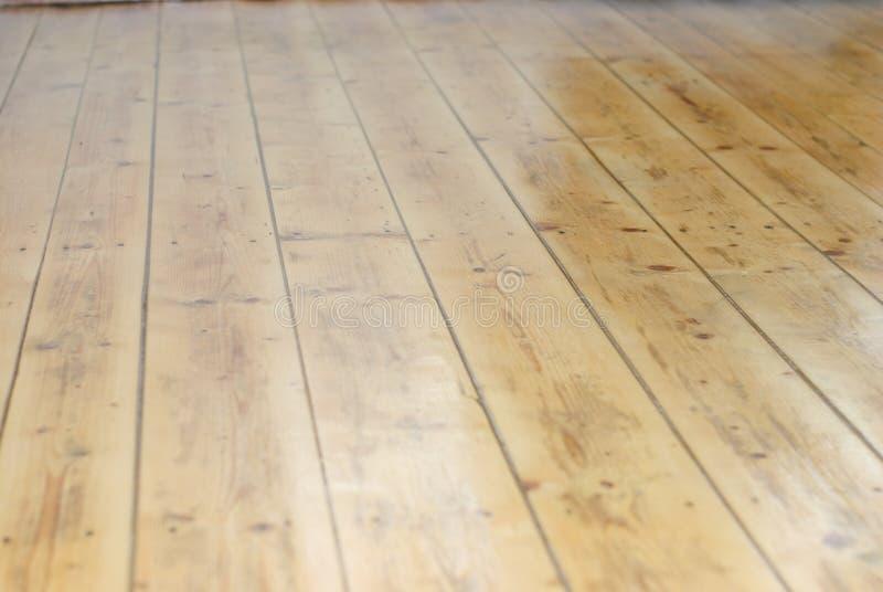 Renovated wooden floor stock photography
