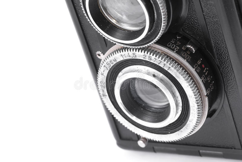 Detail Of Retro Russian TLR Camera Lens Stock Images