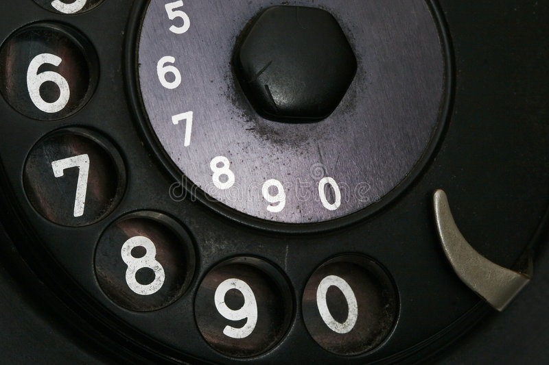 Detail from retro telephone