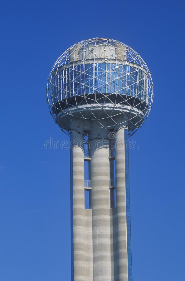 Detail of Reunion Tower in Dallas, TX royalty free stock image