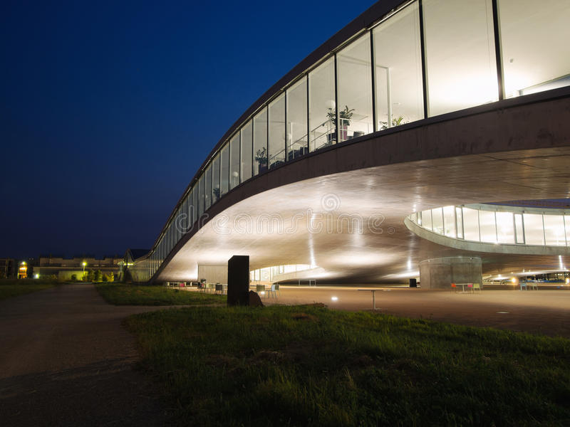 Download Detail Of Rolex Learning Center At EPFL After Sunset Stock Image - Image: 31872075