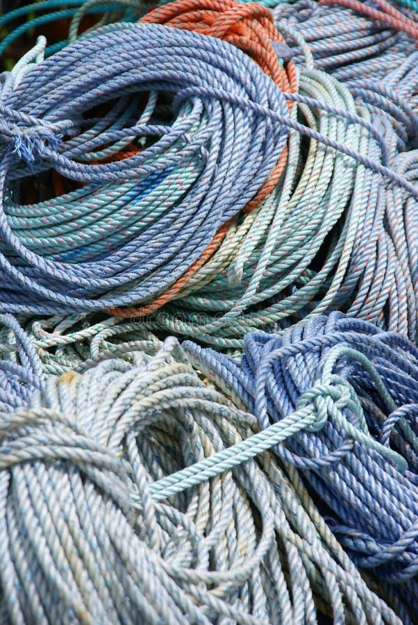 Detail, Rollen van zeevaartkabel stock afbeelding