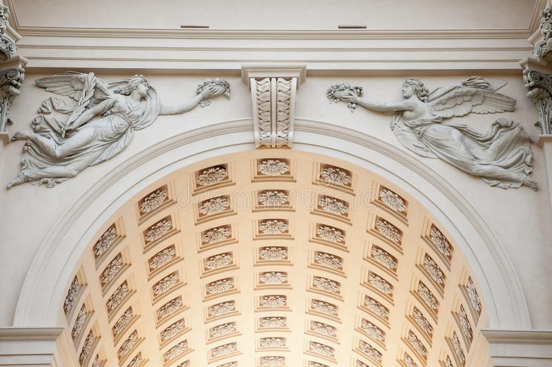 Detail of a Roman Style arch stock images