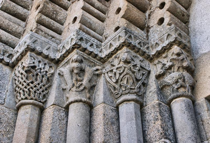 Download Detail Of Romanesque Monastery Of Sao Pedro De Ferreira Stock Photo - Image of pacos, environment: 95570220