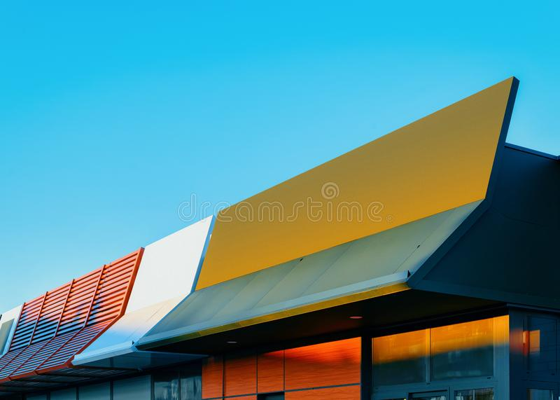 Detail of roof of building royalty free stock image