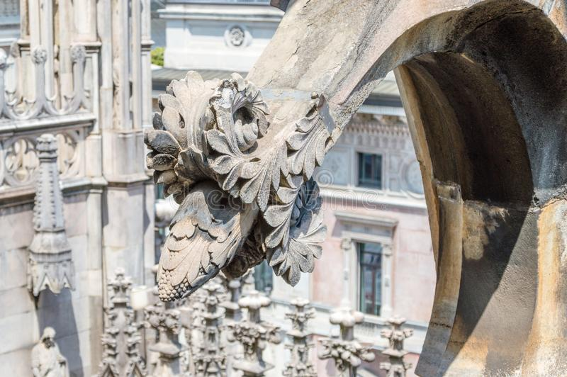 Detail on the roof of Duomo di Milano in Milan, Italy royalty free stock photography