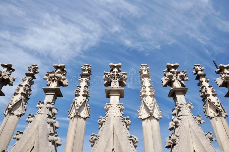The Roof of Duomo Di MIlano royalty free stock photos