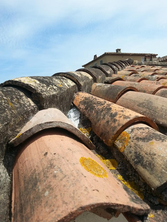 Detail of roof in Provence, France royalty free stock images