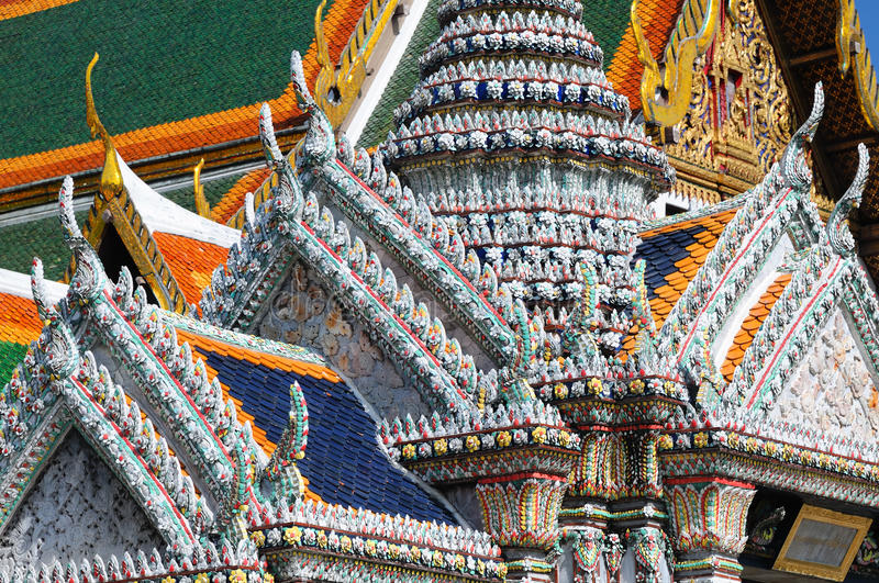 Detail Of Roofs At Grand Palace Stock Images