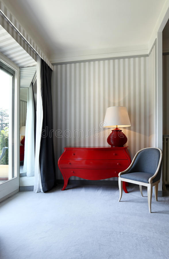 Detail room, dresser and chair royalty free stock photo
