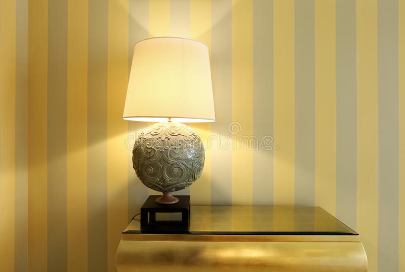 Detail room, table lamp stock photos