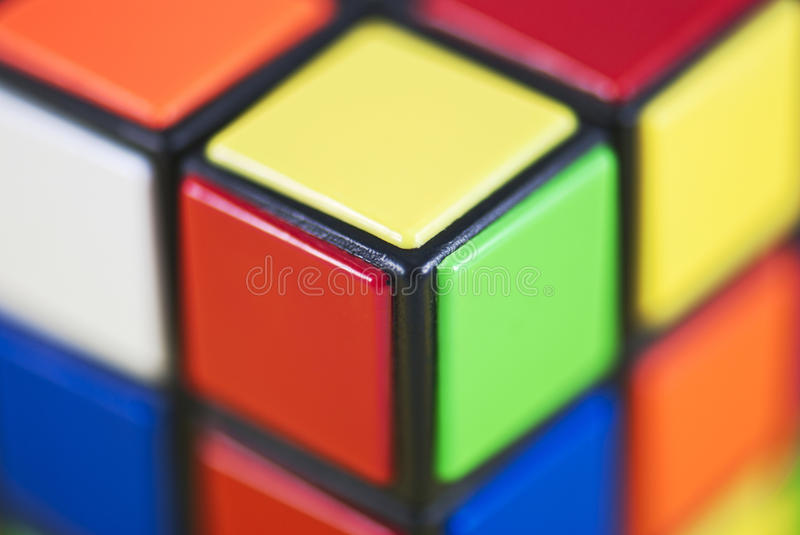 Detail of Rubik's Cube stock photography