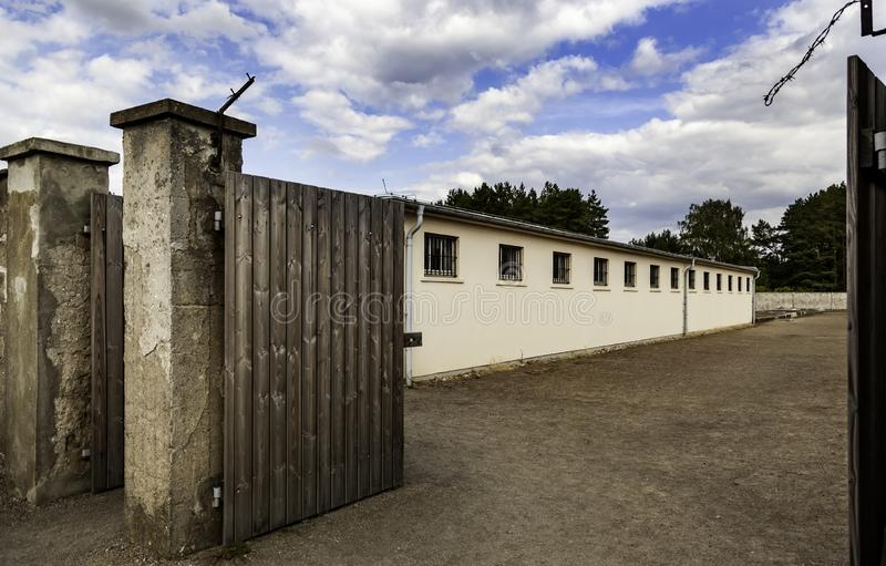 Detail of sachsenhausen concentration camp. History of the Holocaust royalty free stock image