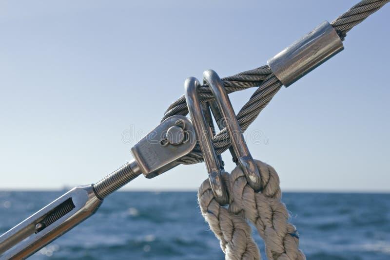 Detail of sailboat rigging