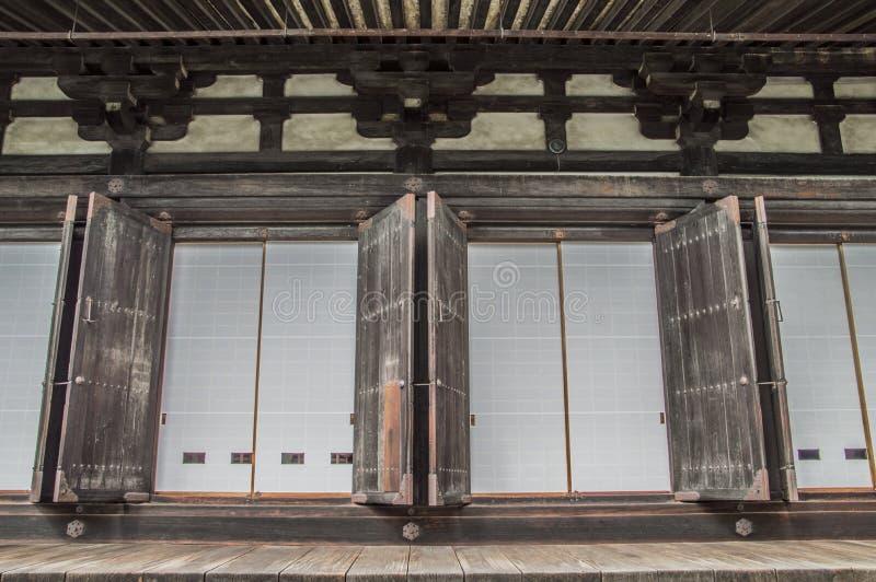 Detail Of The Sanjuusangendoo Temple At Kyoto Japan stock image