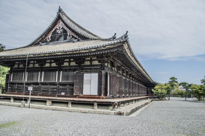 Detail Of The Sanjuusangendoo Temple At Kyoto Japan royalty free stock image