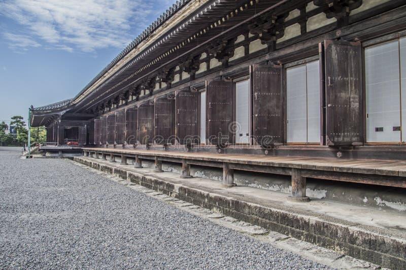 Detail Of The Sanjuusangendoo Temple At Kyoto Japan. 2015 stock photo