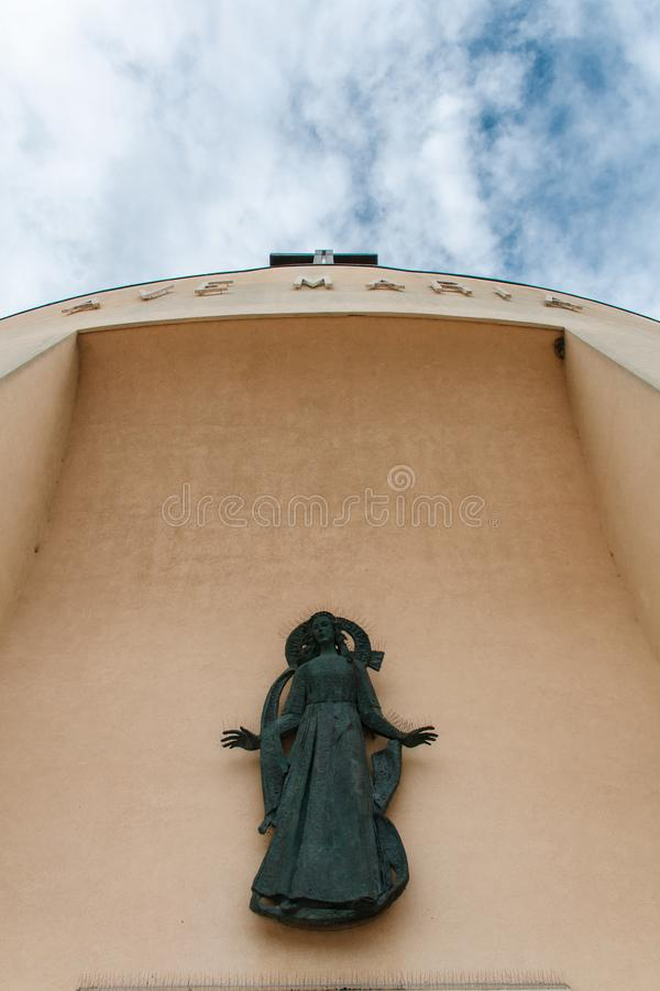 Detail of the Santa Maria Ausiliatrice church in Lido di Jesolo, Italy. Detail of the Santa Maria Ausiliatrice church in Lido di Jesolo in Italy stock images