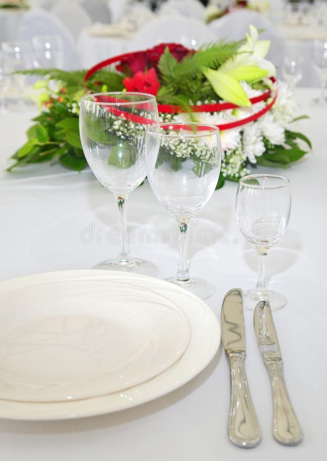 Detail of served table royalty free stock photos