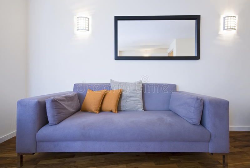 Detail shot of modern living room royalty free stock photo
