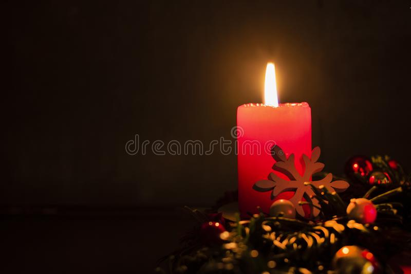 advent wreath with burning candle stock image image of. Black Bedroom Furniture Sets. Home Design Ideas