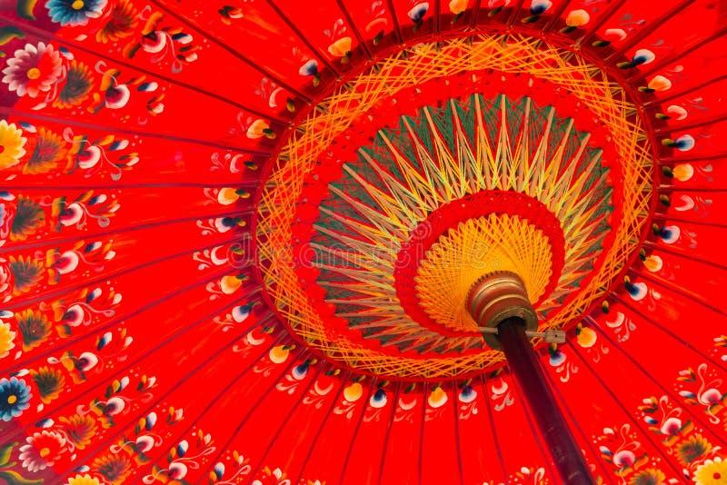 Red umbrella detail shot royalty free stock photo