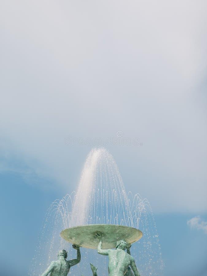 Detail shot of the triton fountain. Valletta, Malta stock image