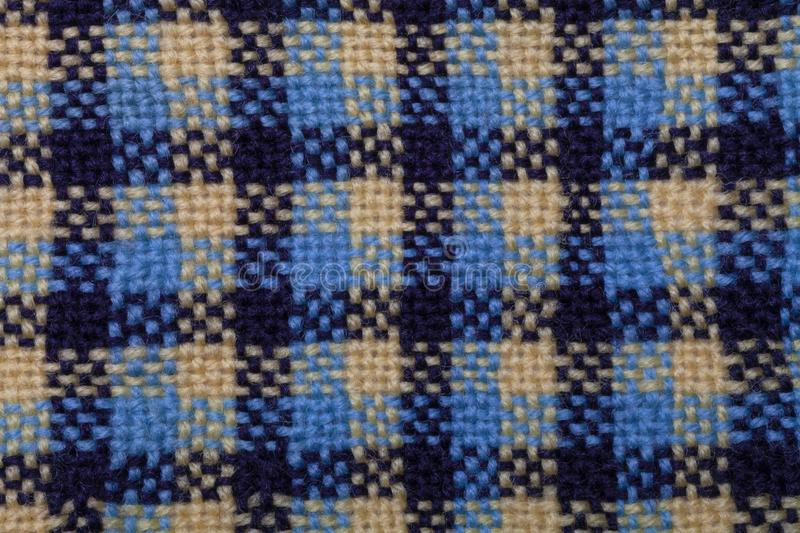 Close up of a hand woven materal royalty free stock photos