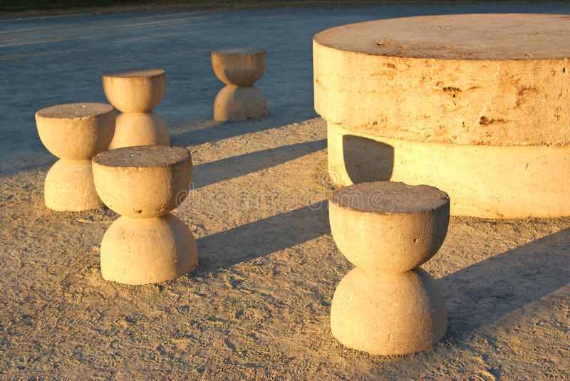 Detail: Silence Table By Brancusi Stock Image