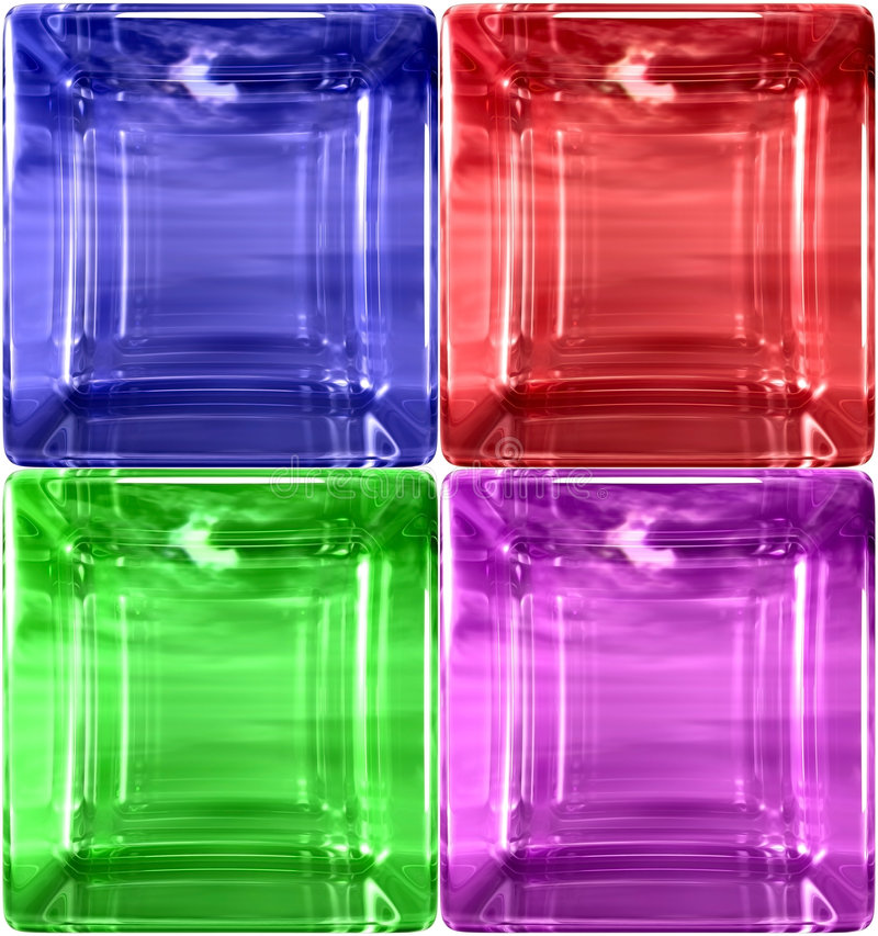 DETAIL SIMPLE ROUNDED GLASS CU royalty free illustration