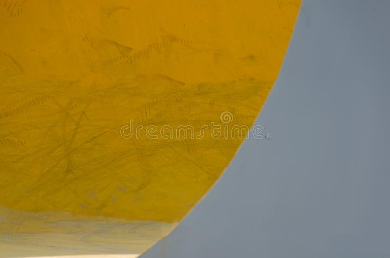 Backdrop two tone yellow grey color, banner abstract, covers with minimal design, design shapes pattern. Detail of skateboard area wall. Abstract colored stock photos
