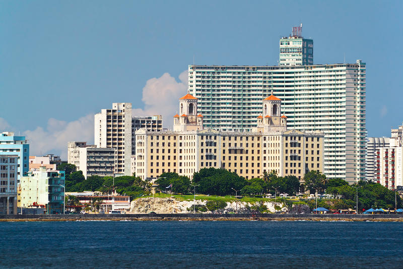 Detail from the skyline of Havana, Cuba with the H stock photography