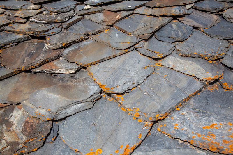 Old Chipped Slate Roof Tiles Stock Photo Image Of Gray