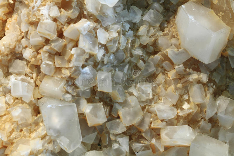 detail of small calcite mineral stock photo