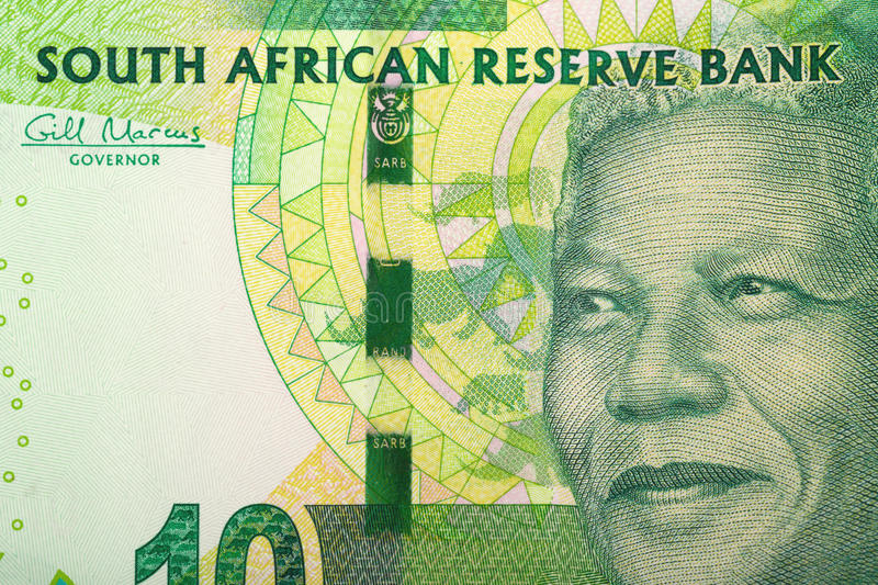 Detail of sout african rand. Detail of rand banknote. South African rands is the national currency of South Africa royalty free stock images