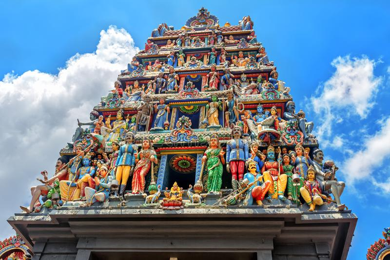 Sri Mariamman Temple in Singapore. royalty free stock images