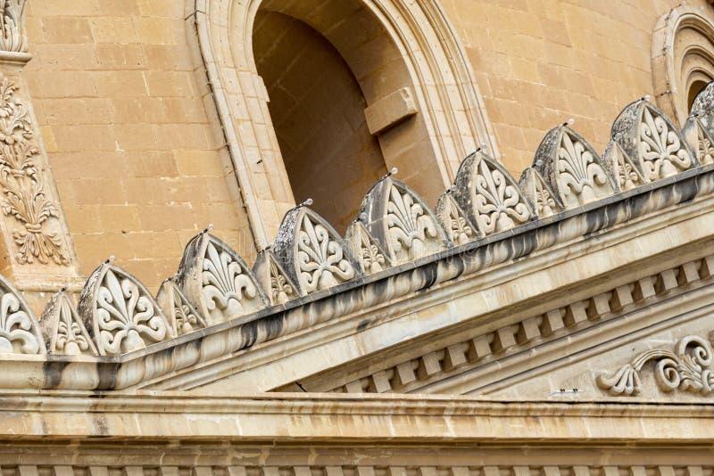 St Helens Basilica in Birkirkara in Malta. A detail of the St Helen's Basilica in Birkirkara, Malta stock images