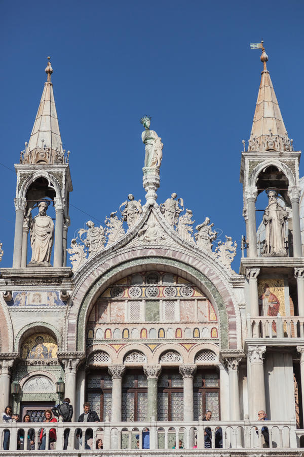 Detail of St. Mark's Basilica, Venice. royalty free stock images